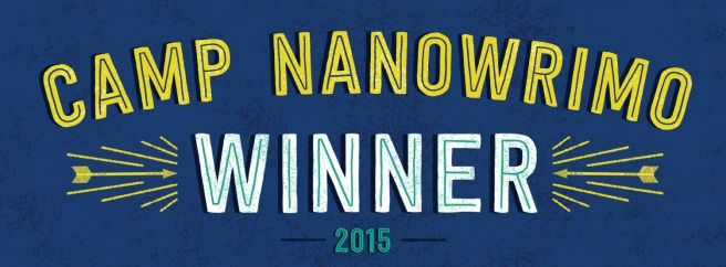 Camp NaNoWriMo Winner 2015