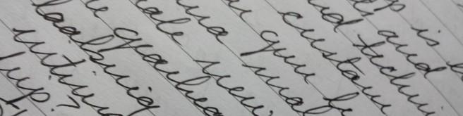 Handwritten campaign notes