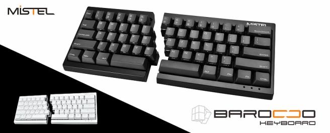 A Mistel Barocco keyboard ad
